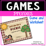 Prefixes Game and Worksheet