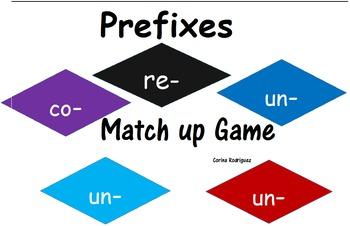 Prefixes Match Up Game (re-, un-, co-, con-)