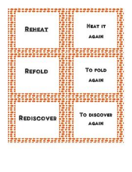 Prefixes Memory Matching Game