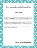 Prefixes-Once Upon a Prefix, Suffix, and Root Set 1 Activity 1