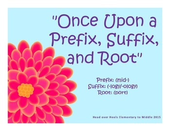 Prefixes-Once Upon a Prefix, Suffix, and Root Set 1 PowerPoint 1