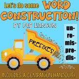 Prefixes PowerPoint (mis, un, re, pre, dis)