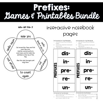 Prefixes: Printables and Games for 3rd Grade