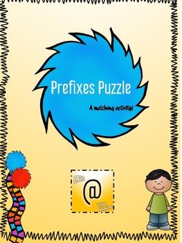 Prefixes Puzzle A Matching Activity