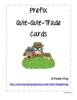 Prefixes Quiz-Quiz-Trade