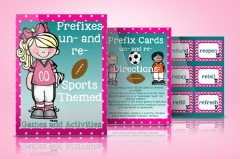 Prefixes Re- and Un- Sports Themed Games and Activities