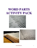 Prefixes, Root Words, & Suffixes Activity Pack (13pg)