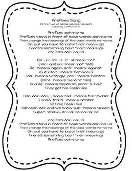 Prefixes Song - Havana by Camila Cabello