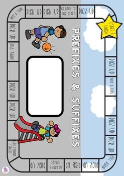 Prefixes & Suffixes Board Game - literacy centre