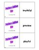 Prefixes & Suffixes Card Game
