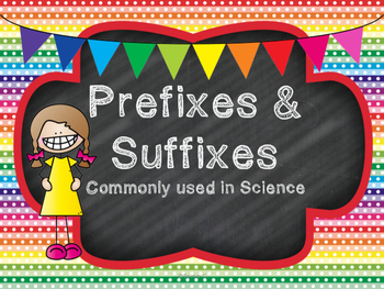 Prefixes & Suffixes Commonly Used in Science