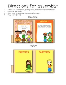 Prefixes & Suffixes File Folder Sort