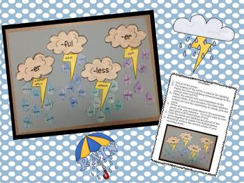 Prefixes & Suffixes {Flower Pot &Thunderstorm Craftivities}