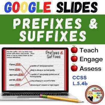 Prefixes & Suffixes (Grades 5-6) - GOOGLE INTERACTIVE CLASSROOM!