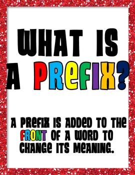 Prefixes & Suffixes Literacy Center and Bulletin Board