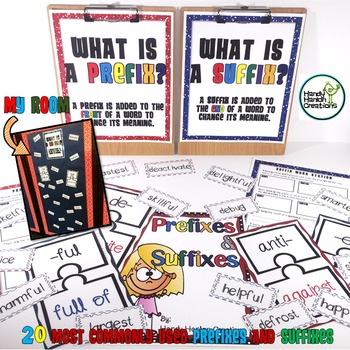 Prefixes & Suffixes Literacy Center and Bulletin Board