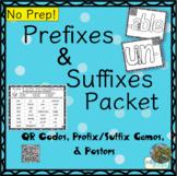 Prefixes & Suffixes Games Packet