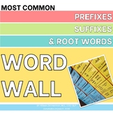 Prefixes, Suffixes, & Root Words - WORD WALL
