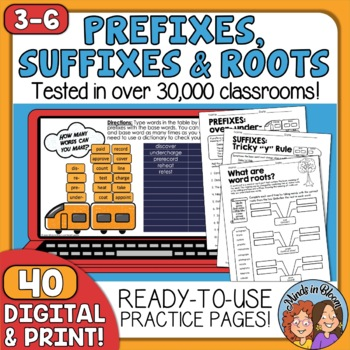 Prefixes, Suffixes and Roots Printables