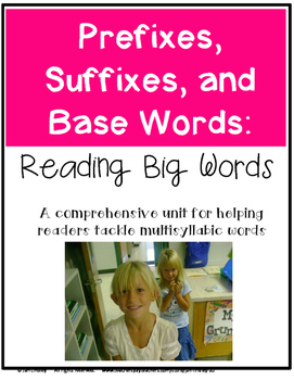 Prefixes, Suffixes, and Base Words:  Helping Readers Tackle Multisyllabic Words