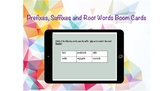 Prefixes, Suffixes and Root Words Boom Cards