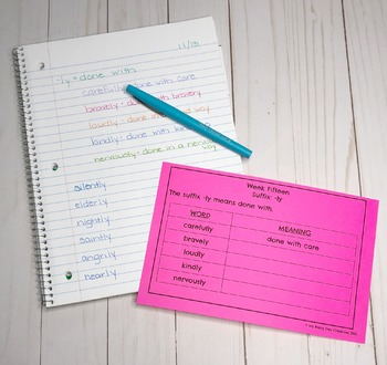Prefixes, Suffixes, and Root Words Program for the Year
