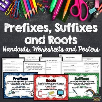 Prefixes, Suffixes & Roots