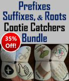 Prefixes, Suffixes, and Roots Activities 4th 5th 6th 7th 8th Grade Affixes