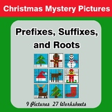 Prefixes, Suffixes, and Roots - Christmas Mystery Pictures