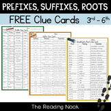 Prefixes, Suffixes and Roots FREE