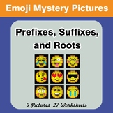 Prefixes, Suffixes, and Roots - Emoji Mystery Pictures | C