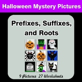Prefixes, Suffixes, and Roots - Halloween Mystery Pictures | Color by Code