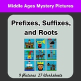 Prefixes, Suffixes, and Roots - Middle Ages Mystery Pictur