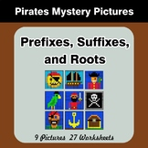 Prefixes, Suffixes, and Roots - Pirates Mystery Pictures |