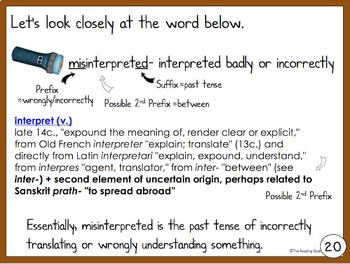 Prefixes, Suffixes, and Roots PowerPoint Lesson