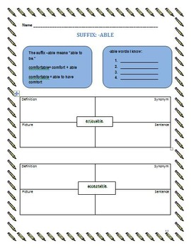 Prefixes, Suffixes, and Roots Workbook