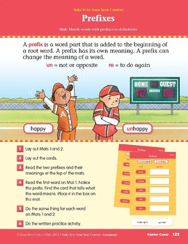 Prefixes (Take It to Your Seat Centers: Common Core Language)