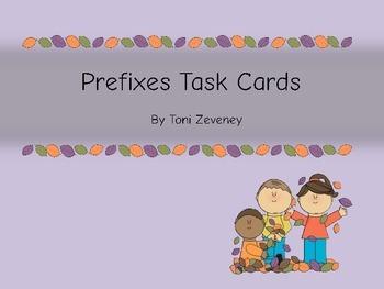 Prefixes Task Card Bundle