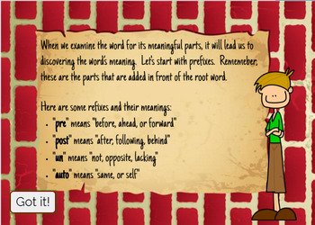Vocabulary Prefixes Task Cards: Un-, Pre-, Post-, & Auto-: Digital Task Cards