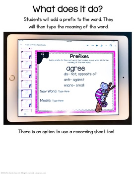 Prefixes Task Cards for Google™ Use