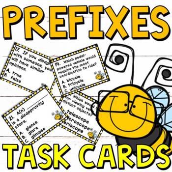 Prefixes Task Cards for Grades 3-4