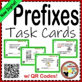 Prefix Task Cards w/ QR Codes!  Grades 3-4