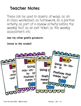 Prefixes That Mean before or again using pre- and re-