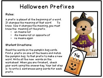 Prefixes - Trick or Treat Theme