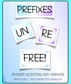 Prefixes UN and RE FREE