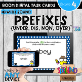 Prefixes (UNDER, DIS, NON, OVER) Boom Cards - Distance Learning