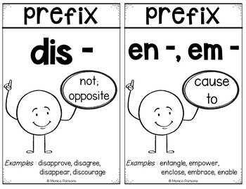 Prefixes Vocabulary Cards - FREEBIE