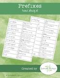 Prefixes Word Study A