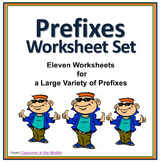 Prefixes Worksheet Set