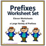 Prefixes Worksheet Set